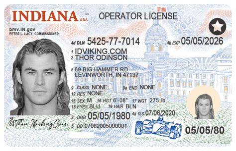 Indiana (IN) Drivers License- Scannable Fake ID - IDViking