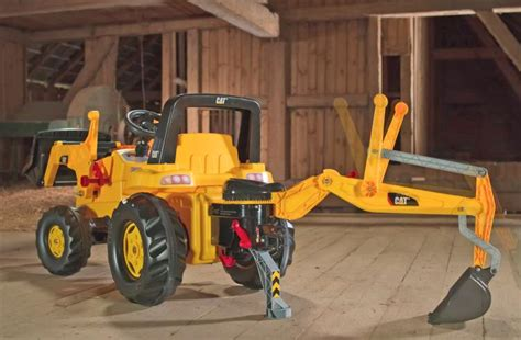 Kids Pedal Powered Backhoe Tractor