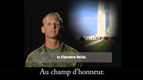 Au champ d'honneur (In Flanders Fields with French