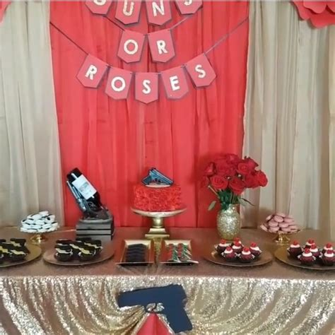 Guns and roses gender reveal   Gender reveal party theme