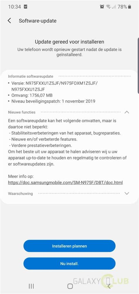 Android 10 op de Samsung Galaxy Note 10: preview