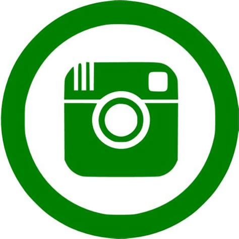Green instagram 5 icon - Free green social icons