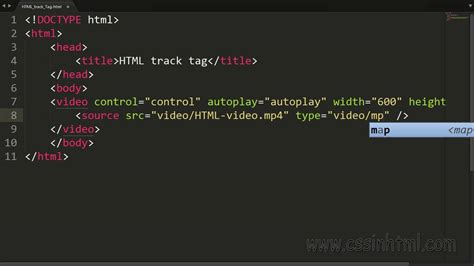 HTML track Tag - YouTube
