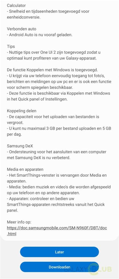 Samsung Galaxy Note 9 begint aan Android 10 update in NL