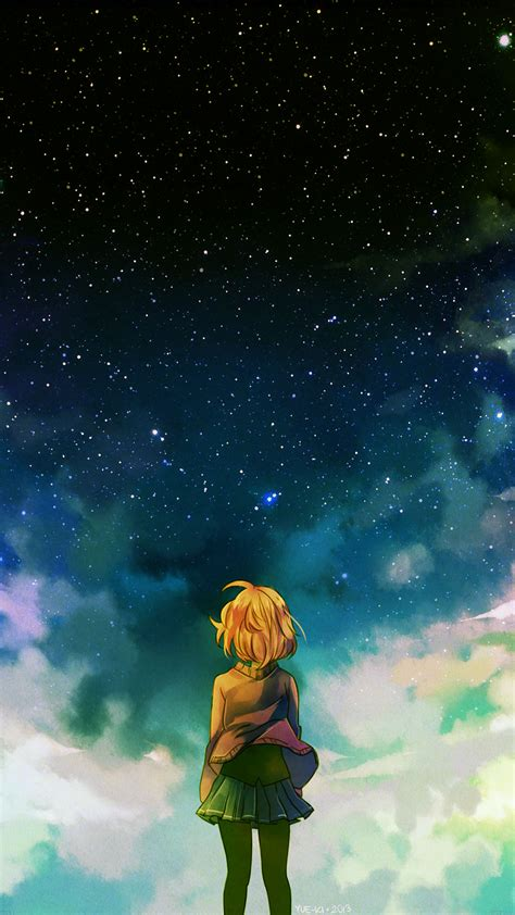 ad64-starry-night-illust-anime-girl - Papers