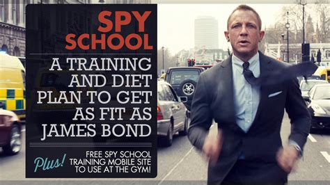 Spy School: A Training and Diet Plan to Get as Fit as