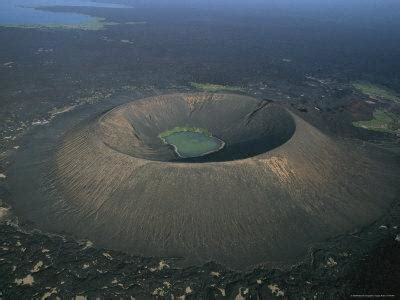 A Lake Inside a Volcano Crater South of Lake Abbe