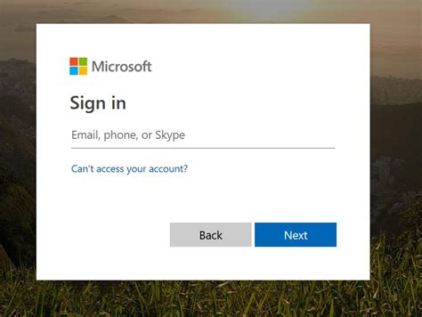 Dynamics Portal Login page - defaulting to Microsoft sign